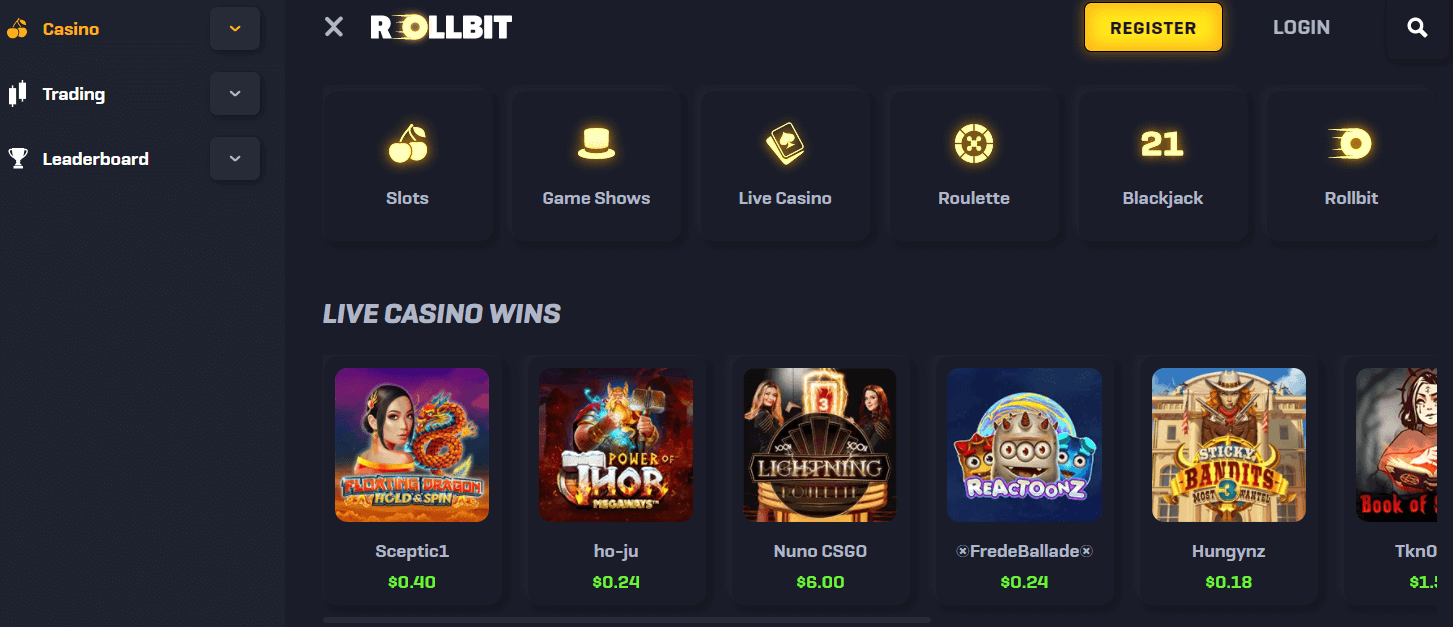 How to play Rollbit in USA